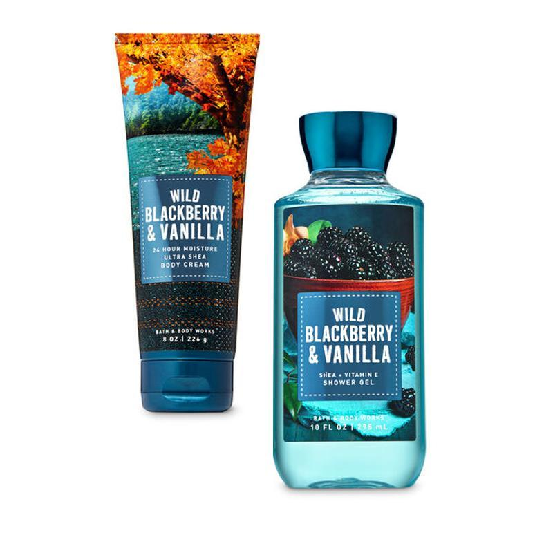 Buy Bath & Bodyworks : BUNDLE DEAL!!! Wild Blackberry & Vanilla - Shower Gel and Ultra Shea Body Cream - Bath and Bodyworks Singapore