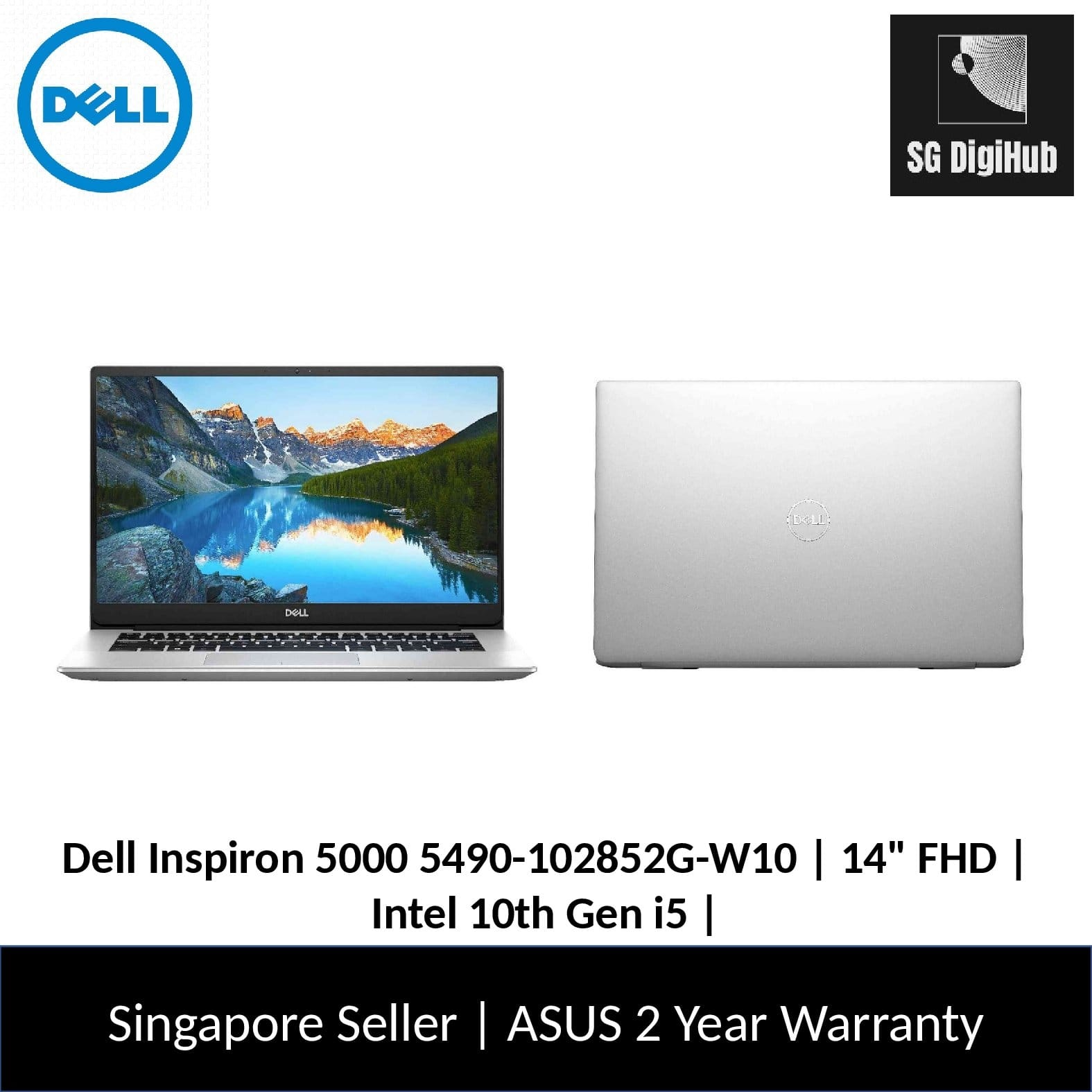 Dell Inspiron 5000 | 14 FHD | Intel 10th Gen i5 | 8GB RAM | 512 SSD | GeForce 2GB | 5490-102852G-W10