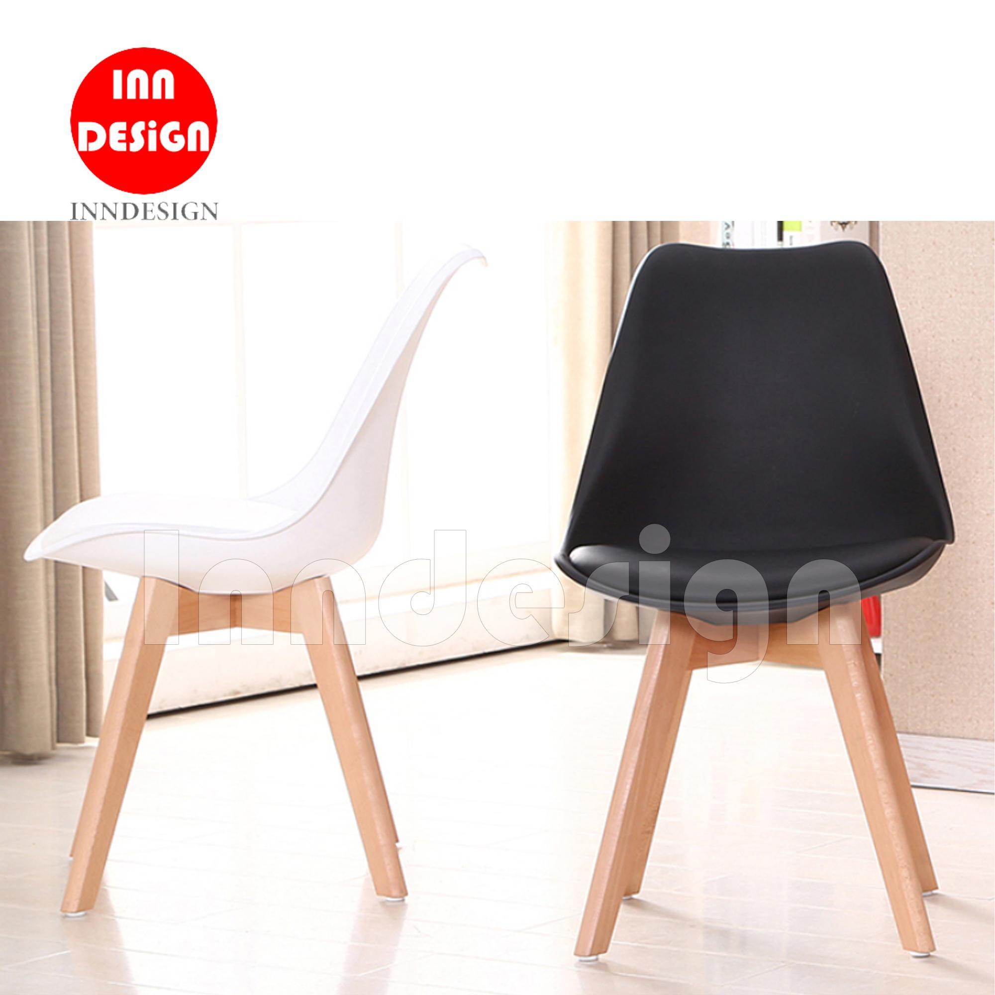 Eames Elias Dining Chair / Chair (Black / White)