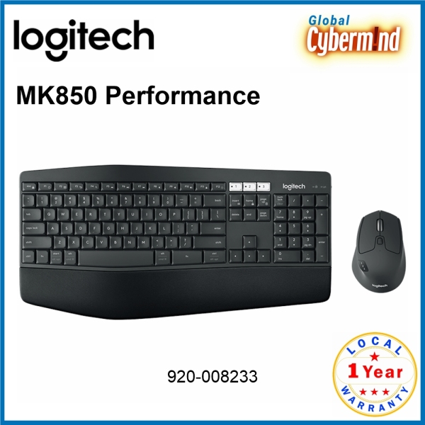 Logitech MK850 Performance Multi-Device Bluetooth Wireless Keyboard and Mouse Combo [920-008233] (Brought to you by Global Cybermind) Singapore