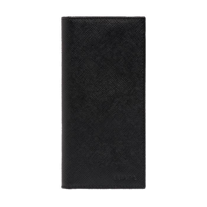 2d5c75322e92 NEW ARRIVAL PRADA Men's Saffiano Leather Long Walet Black 2MV001
