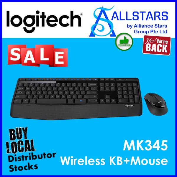 (ALLSTARS : We are Back / Keyboard & Mouse Promo) LOGITECH MK345 Wireless Combo (920-006491)-Warranty 1year W/BANLEONG Singapore