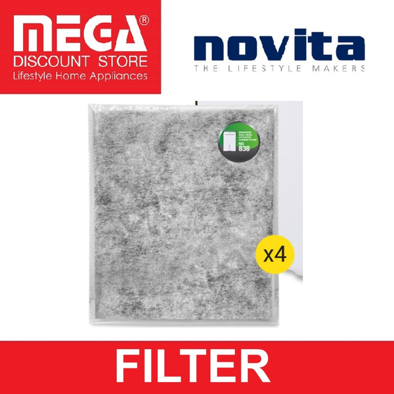 NOVITA FILTER PACK FOR DEHUMIDIFIER ND838 (4PCS) Singapore