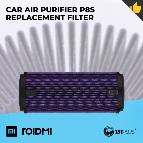 Xiaomi RoidMi Car Air Purifier P8S Replacement Filter [ Effective Air Purifying, Enhanced Version, Filter PM2.5, Formaldehyde, Toluene, Sulfur Dioxide, Removal, Antibacterial, H11 Filter, Car Accessory, Air Treatment ] Singapore