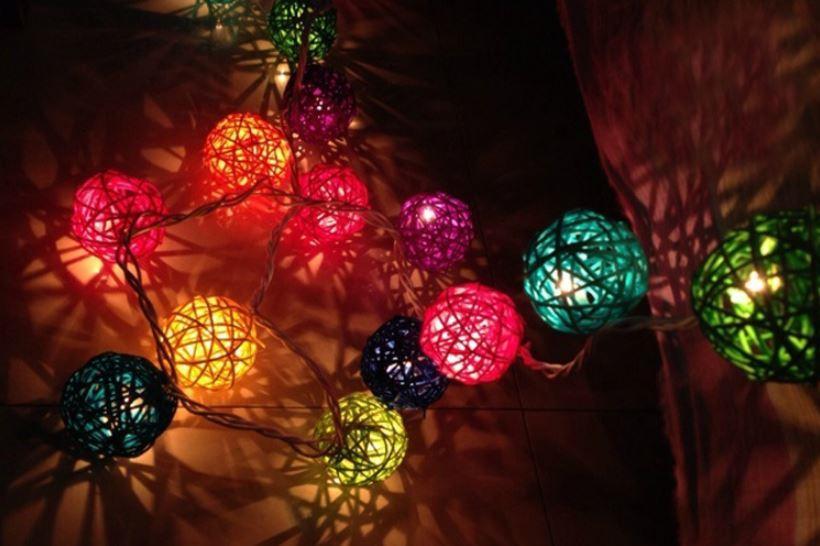 Solar String Rattan Light