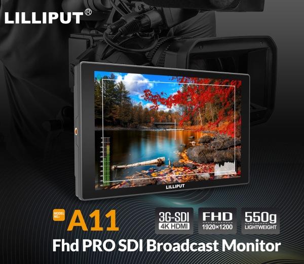 LILLIPUT A11 10.1 inch 1920x1200 IPS On Camera Monitor with 4K HDMI&SDI Input & Output camera field monitor