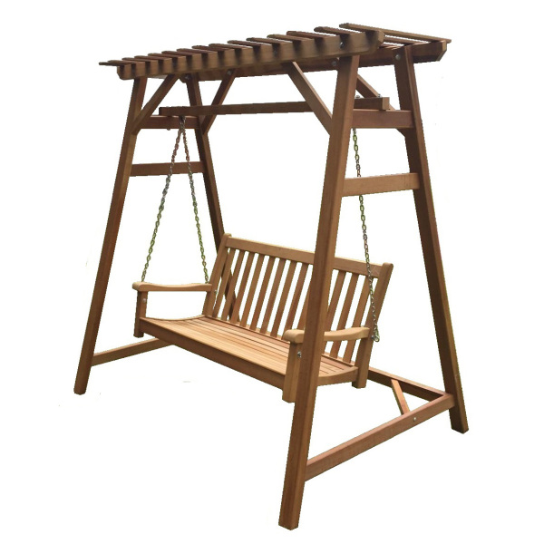 Outdoor Furniture, Chengal Wood Garden / Patio Swing 150