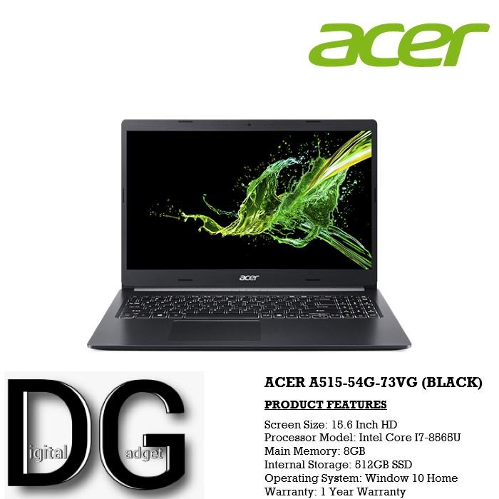 ACER A515-54G-73VG (BLACK) 15.6 IN INTEL CORE I7-8565U 8GB 512GB SSD WIN 10