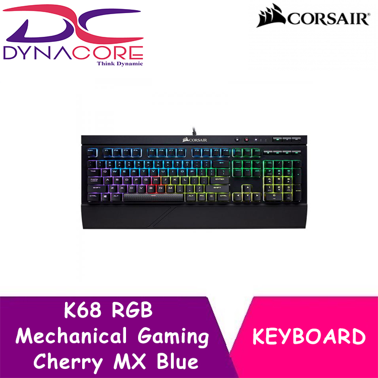 DYNACORE - CORSAIR K68 RGB Mechanical Gaming Keyboard — Cherry MX Blue Singapore
