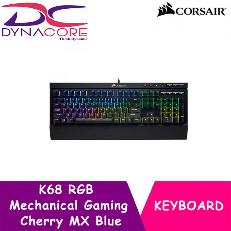 DYNACORE - CORSAIR K68 RGB Mechanical Gaming Keyboard — Cherry MX Blue Singapore