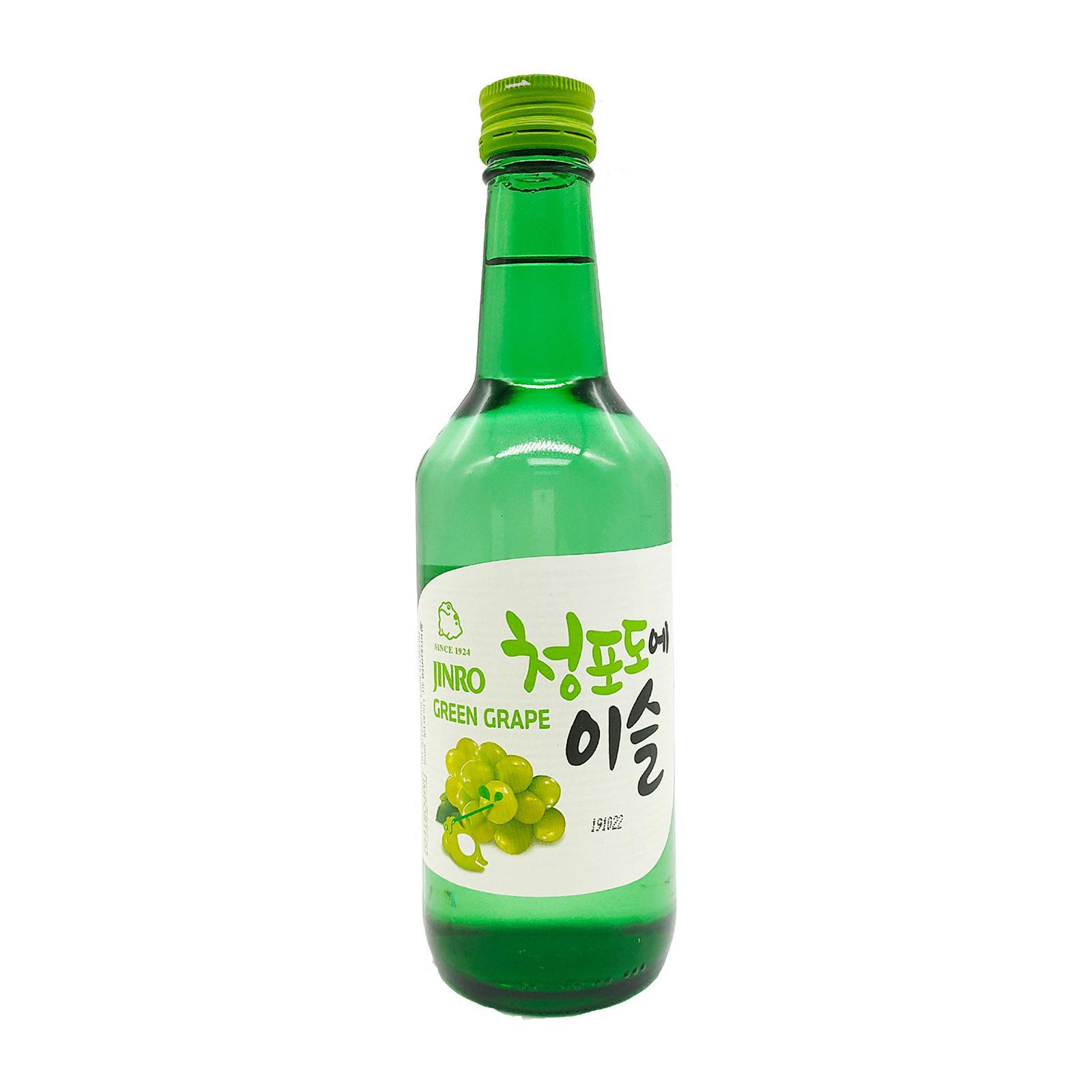 Jinro Green Grape 360ml Bottle Soju