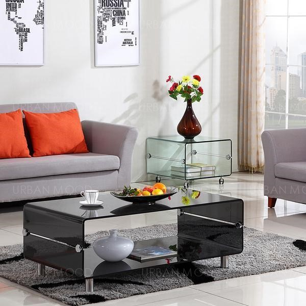 GUSTAV Minimalist Designer Glass Coffee Table