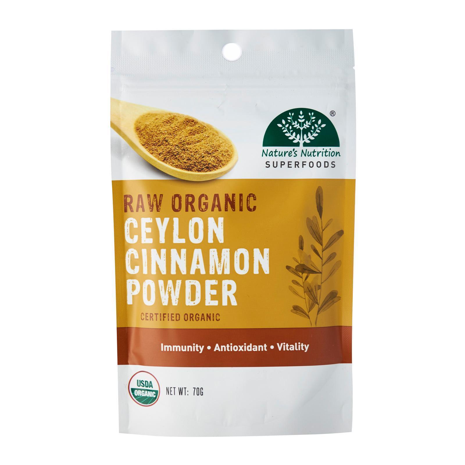 Nature's Nutrition Raw Organic Ceylon Cinnamon Powder