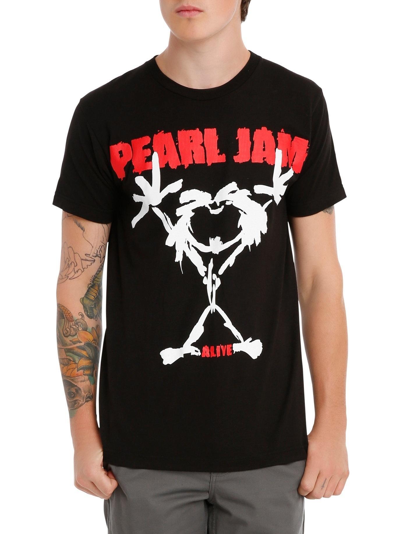 a1dbd7d16be7 Summer Style Unisex Pearl Jam Alive Stickman T-Shirt Men Women Grunge Rock  Band Tee