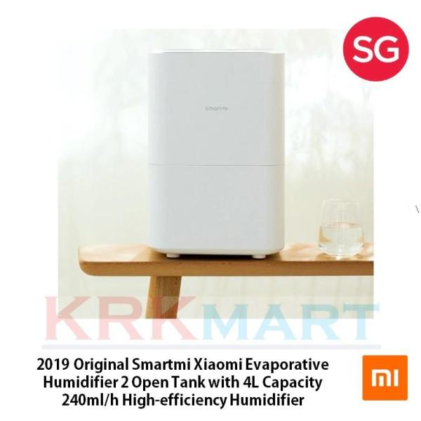 2019 Original Smartmi Xiaomi Evaporative Humidifier 2 Open Tank with 4L Capacity 240ml/h High-efficiency Humidifier Singapore
