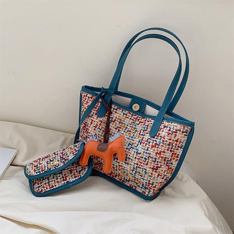 Woolen Cloth One-Shoulder Big Book Bags Female 2019 New Style Fashion Korean Style Versatile Shoulder Bag Large Capacity Fashion Hand Tote Bag
