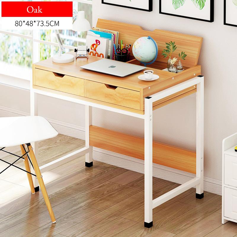 Wooden Study Desk With Drawers-80cm
