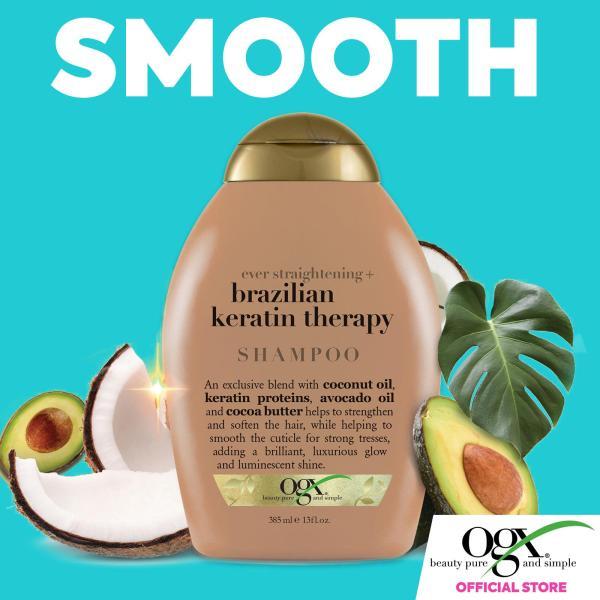 Buy OGX Ever Straightening + Brazilian Keratin Therapy Shampoo 385ML Singapore