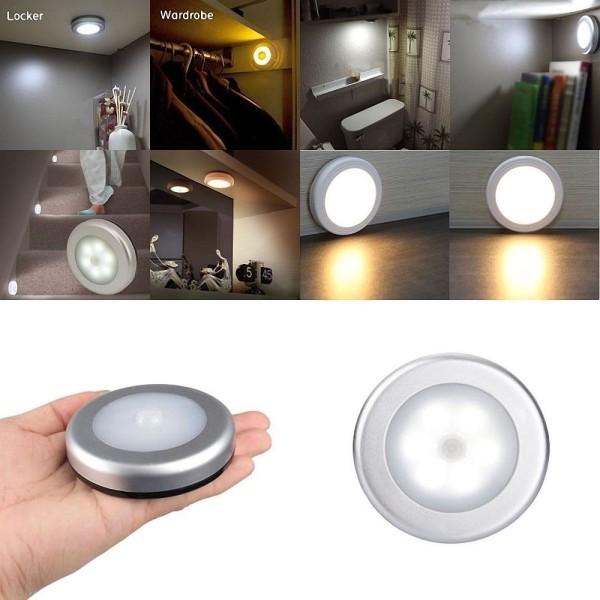 Wireless PIR Motion Auto Sensor LED Night Lights Hallway Closet Stair Room Lamps