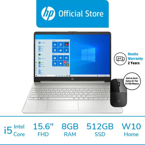 [Free Delivery] HP Laptop 15s-fq2015TU / 15s-fq2024TU / 11th Gen Intel i5-1135G7 / i7-1165G7 / 8GB RAM / 512GB SSD / 15.6 FHD / Win 10 / 2 Year Onsite Warranty / Free 1 Mth McAfee LiveSafe Trial / Thin and Light