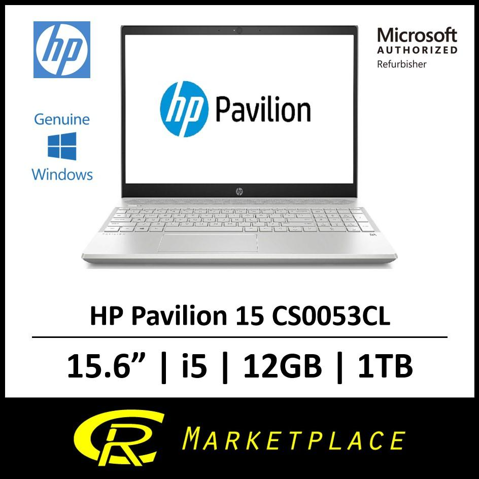 [Microsoft Authorized Refurbisher] HP Pavilion 15 CS0053CL Up To 3.4GHz FHD i5 12GB DDR4 1 TB SATA
