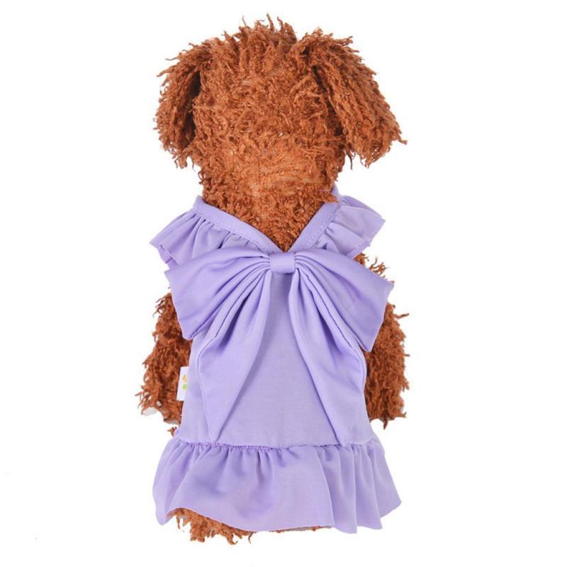 【Cửa Hàng Thú vị】 Miễn phí vận chuyển Váy mèo chó cưng Quần áo thoáng khí mùa hè công chúa buộc nơ cho chó