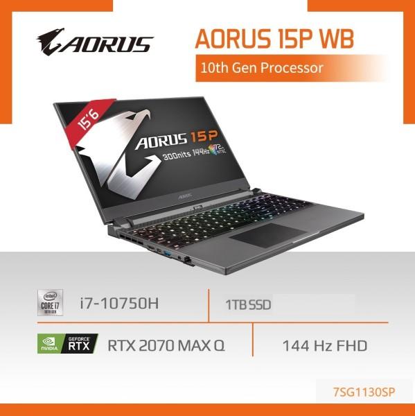 GIGABYTE AORUS 15P WB (i7-10750H/16GB/RTX 2070 MaxQ/1 TB M.2 PCIE SSD/15.6 144Hz /Win 10) [Ships 2-5 days]