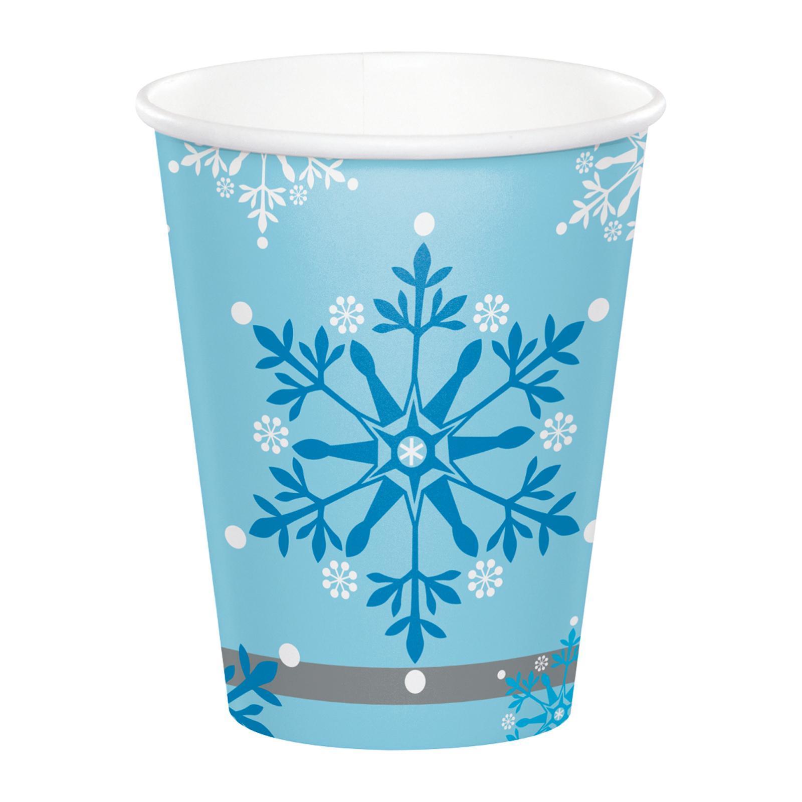 Creative Converting Snow Princess 9 oz Paper Cups 8 PCS / Pack