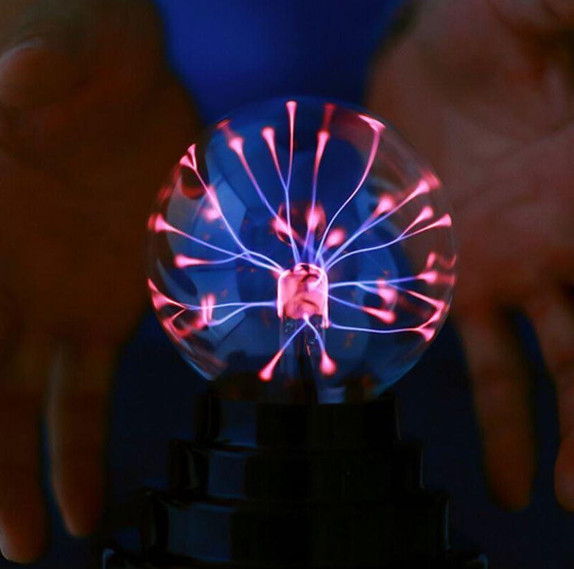 USB and BATTERY type Magic Black Base Glass Plasma Ball Sphere Lightning Party Lamp Light With USB Cable Singapore