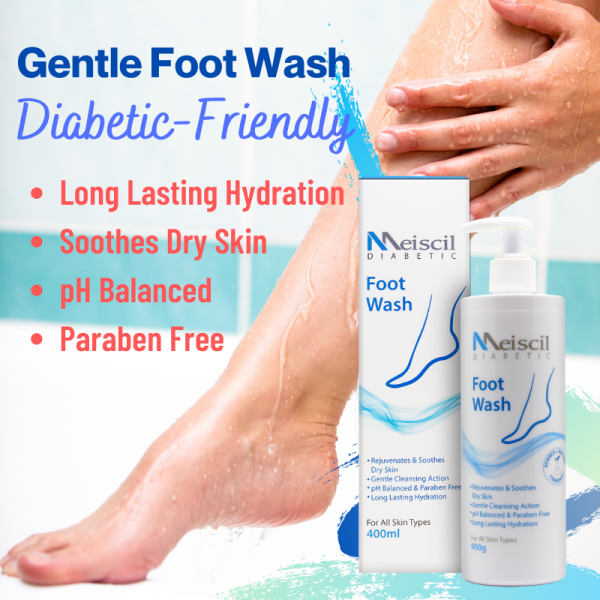 Buy [Formulated in SG] Meiscil Diabetic-Friendly Foot Wash For Gentle Cleanse and Lasting moisturization Singapore