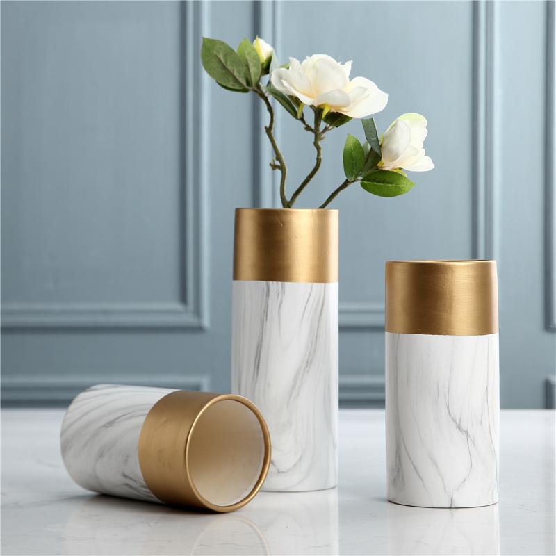 Scandinavian-Light Luxury Post-modern INS Creative Marbling Living Room Vase Decoration Entrance Soft Decoration 58