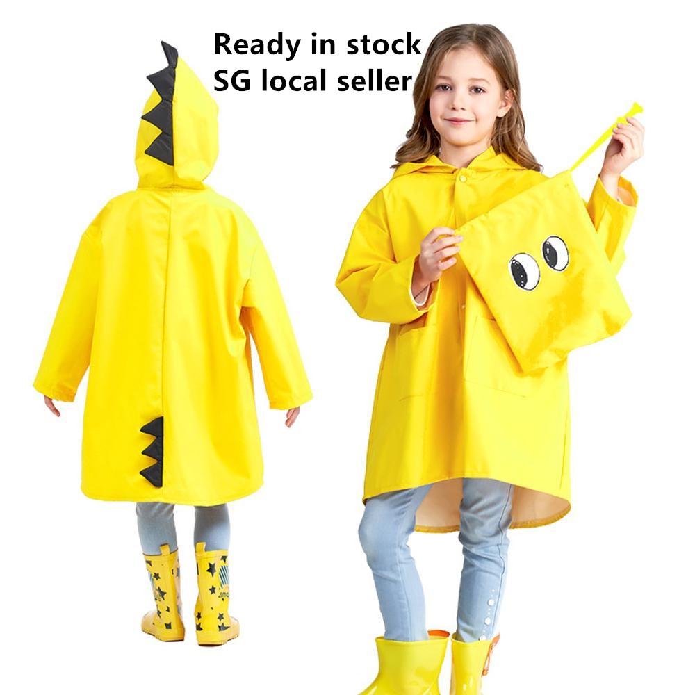 Children Raincoat (come With Storage Bag)lovely Dinosaur Kids Raincoat Cartoon Children Rain Wear Waterproof Rain Suit.