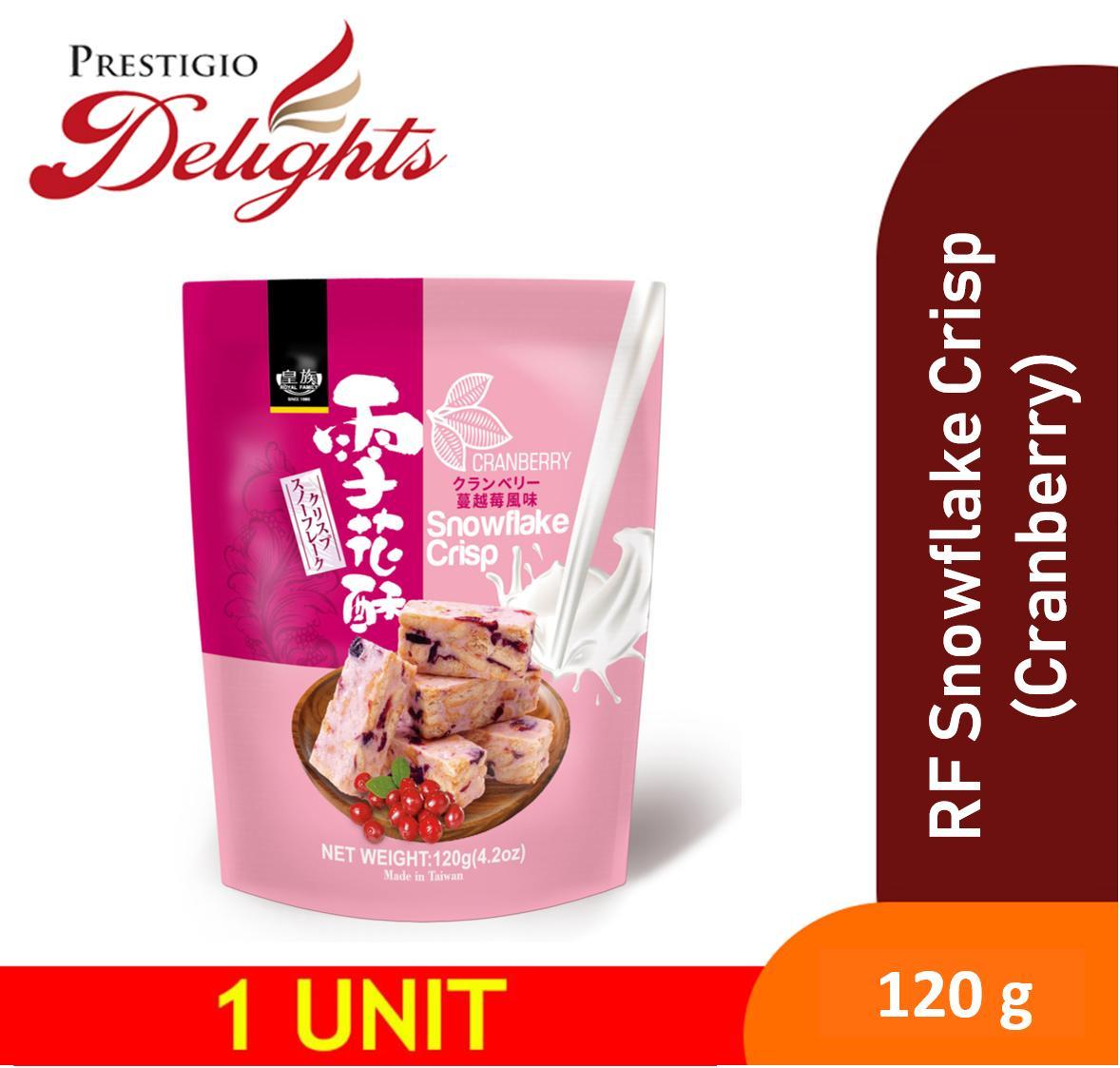 Royal Family Snowflake Crisp (cranberry) 120g 雪花酥-蔓越莓 By Prestigio Delights.