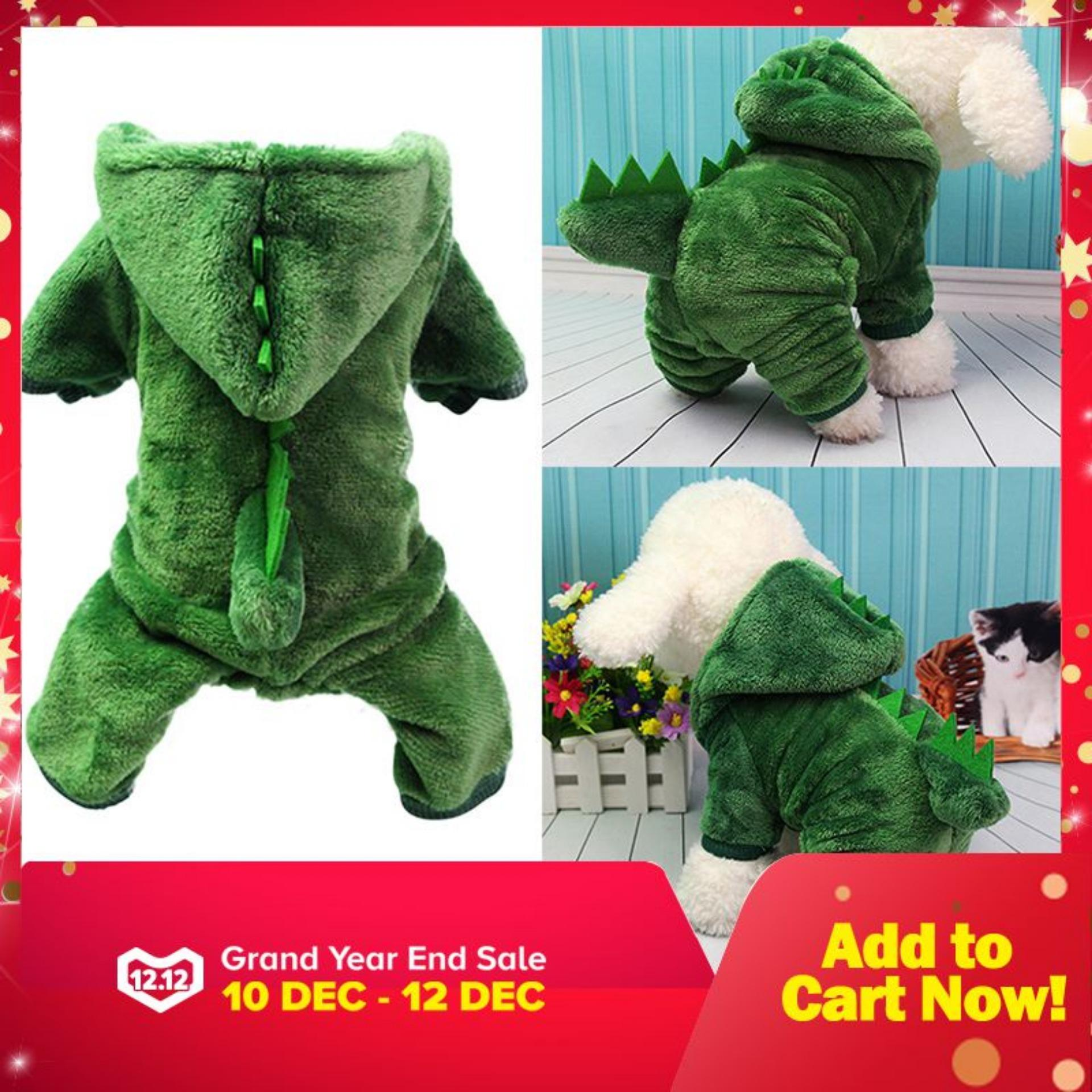 Dinosaur Change To Pet Clothes With Thick Warm Dog Clothes Costume Size 2xl - Intl By Miss Lan.