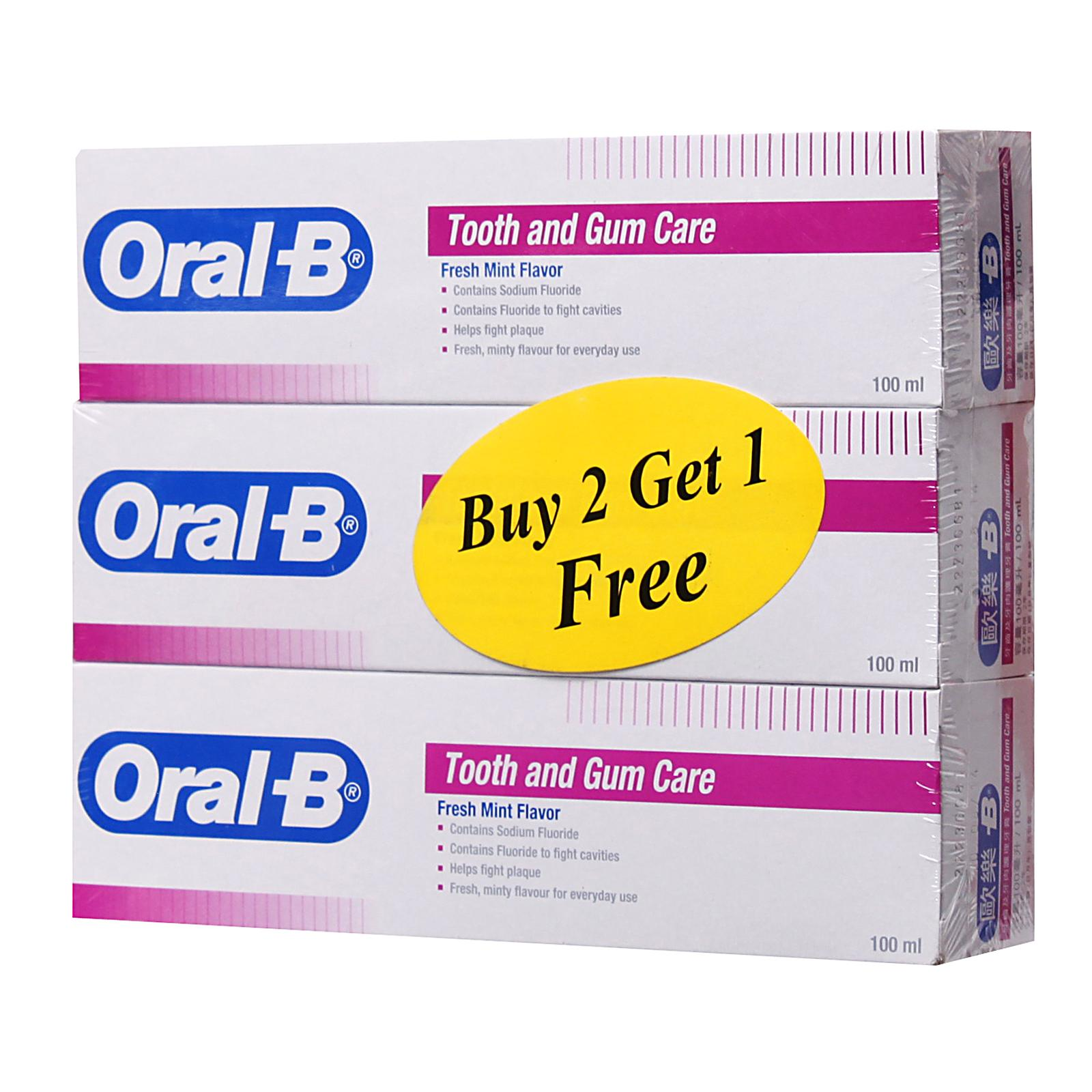 Oral-B Tooth And Gum Care Fresh Mint Toothpaste Triple Pack