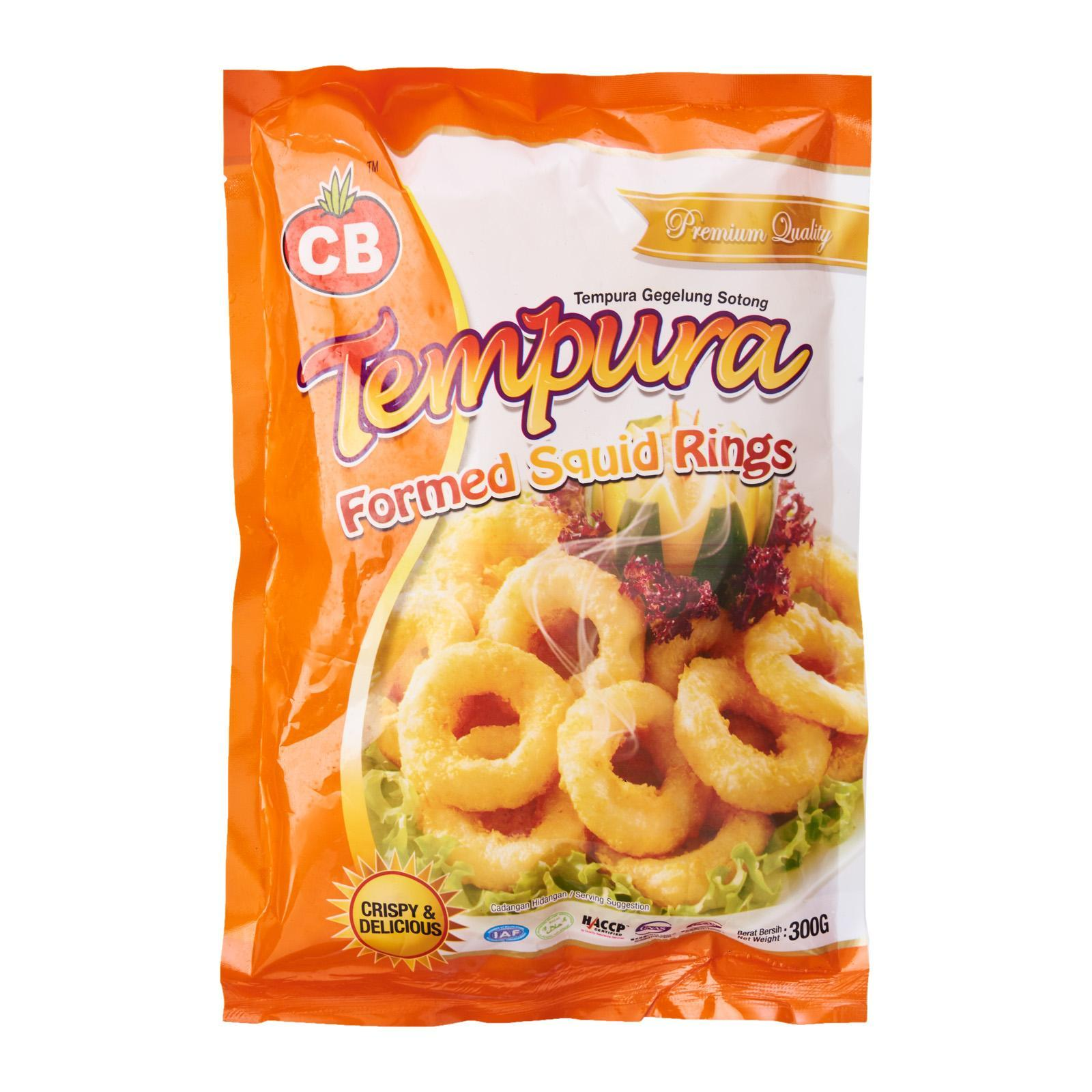 CB Tempura Former Squid Rings - Frozen