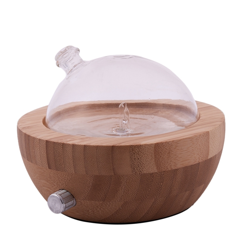 Wood Glass Essential Oil Nebulizer Aromatherapy Diffuser Humidifier Low Noise Mist Control Timer Control Humidifiers Us Plug Singapore