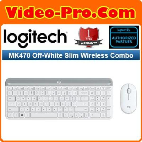 Logitech MK470 Graphite / White Slim Wireless Combo Keyboard and Mouse (1 Year Warranty)
