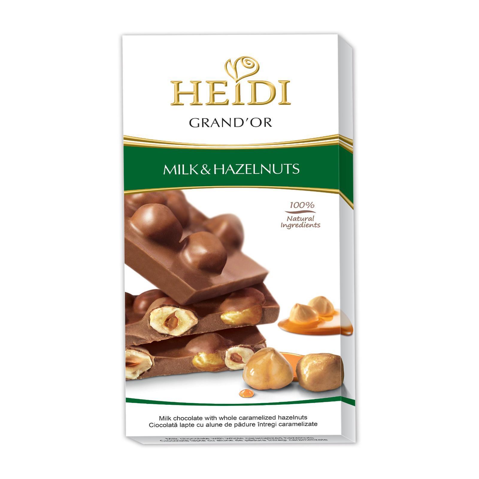 Heidi Grand 'Or Milk Chocolate With Whole Caramelized Hazelnuts