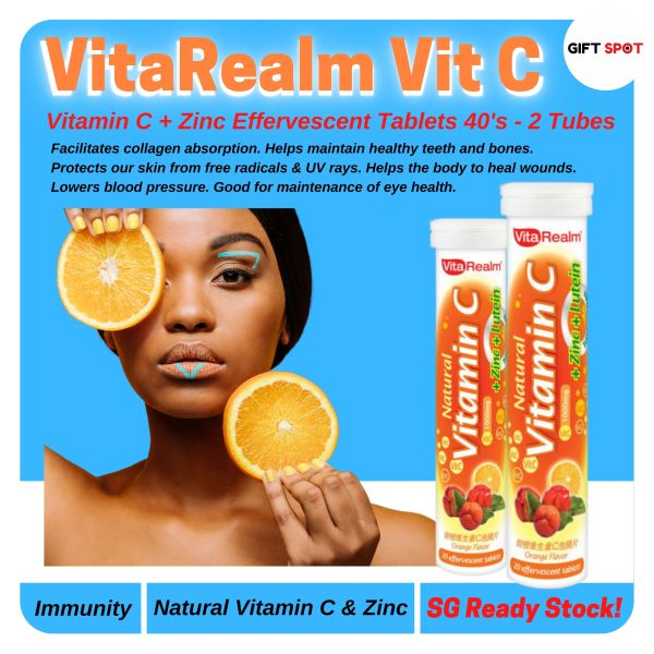 Buy VitaRealm Vitamin C /Twin Pack 2 Tubes (SG Ready Stock) Singapore