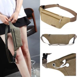 RRAITOR Multi-Pockets Casual Wallet Satchel Men s Pouch Fanny Pack Hip Purse Canvas Belt Bags Waist Packs thumbnail