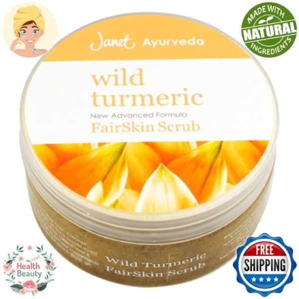 Buy Fair Skin Wild Turmeric Bleaching Scrub 225ml Janet Ayurveda Skin Care Singapore