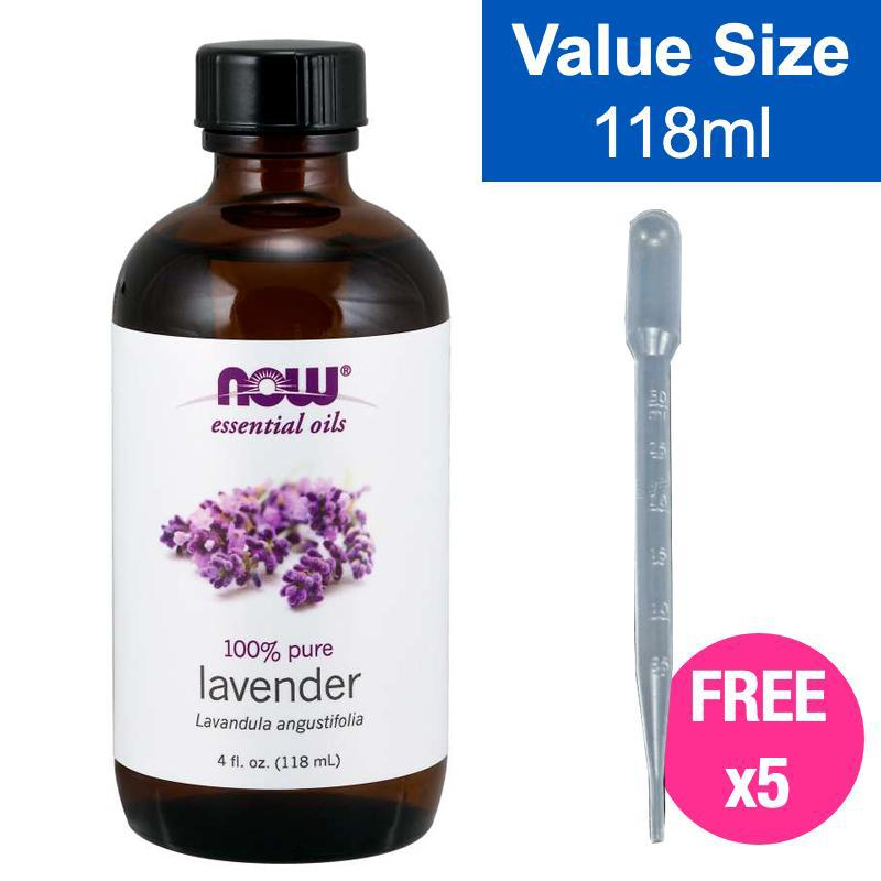 NOW Lavender Essential Oil 100% Pure 118ml