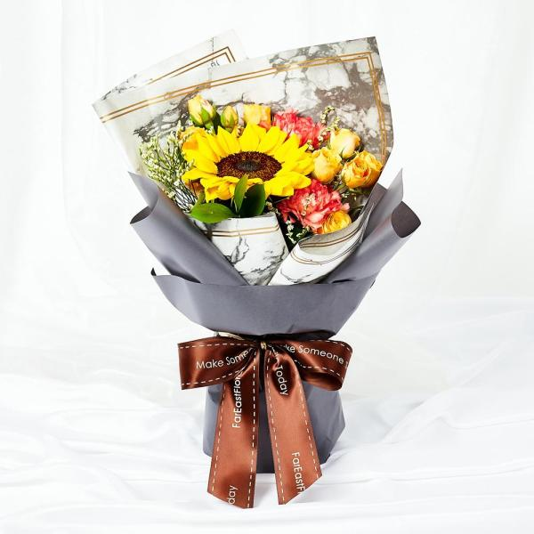 Mothers Day Flowers - Sunbursts Sunflower Hand Bouquet MDB02 FarEastFloracom