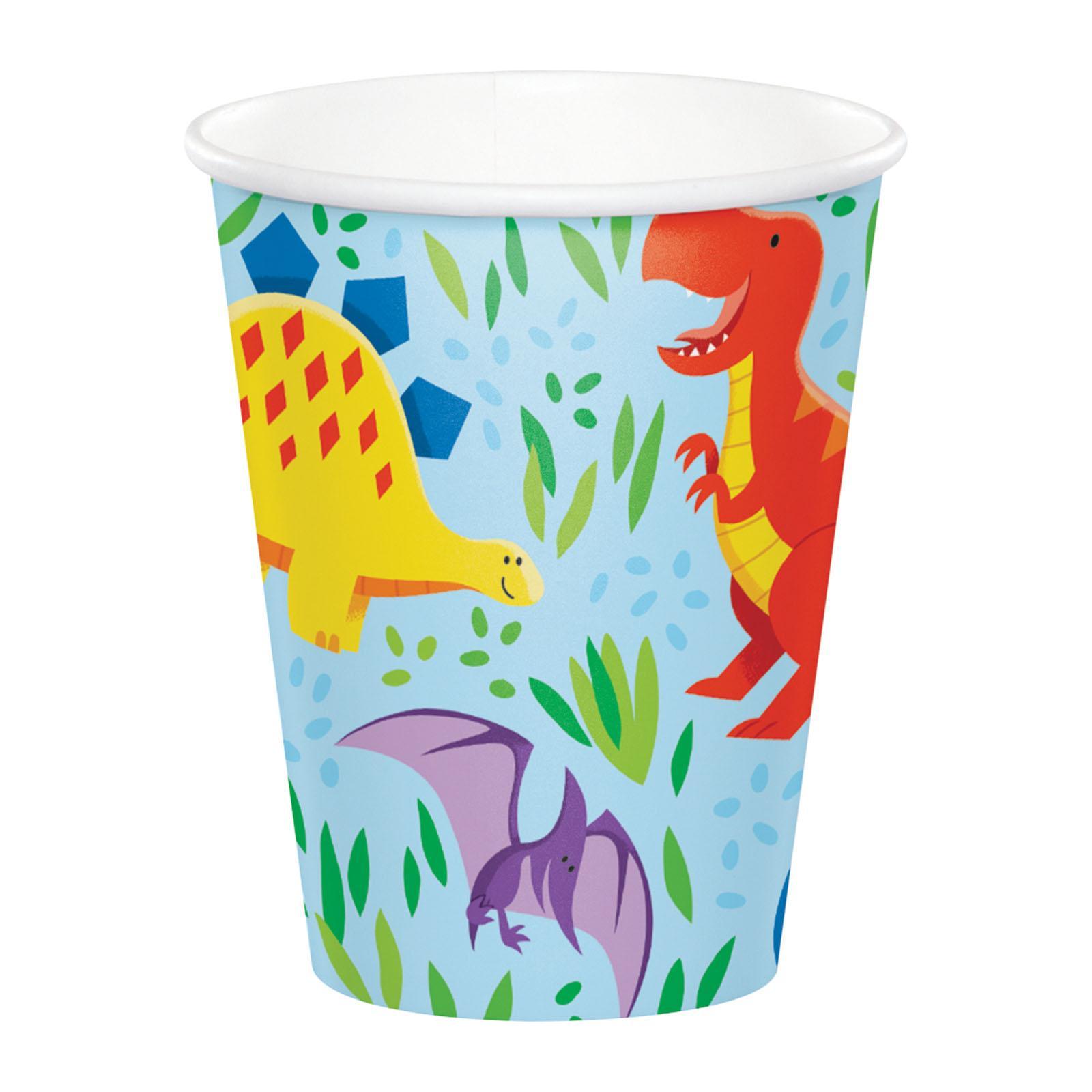 Creative Converting Dinosaur Friends 8 oz Paper Cups 8 PCS/ Pack