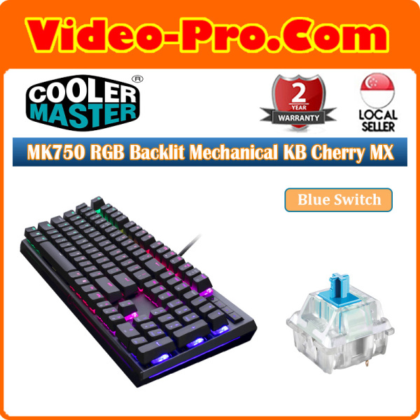 Cooler Master MK750 RGB Backlit Mechanical Keyboard (Cherry MX Blue\Red) MK-750-GKCL2-US 2-Years Local Warranty Singapore