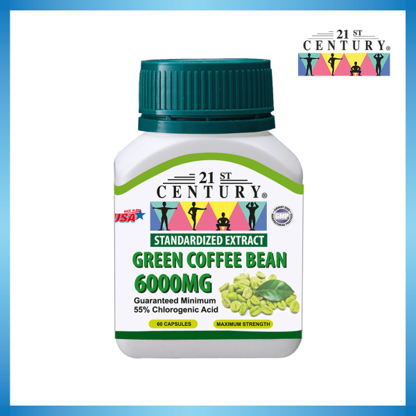 Buy 21st Century Green Coffee Bean 6000MG 60s Singapore