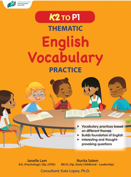 K2 to P1 Thematic English Vocabulary Practice/Preschool Assessment Books
