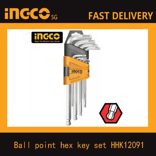 INGCO HHK12091 Ball point hex key set