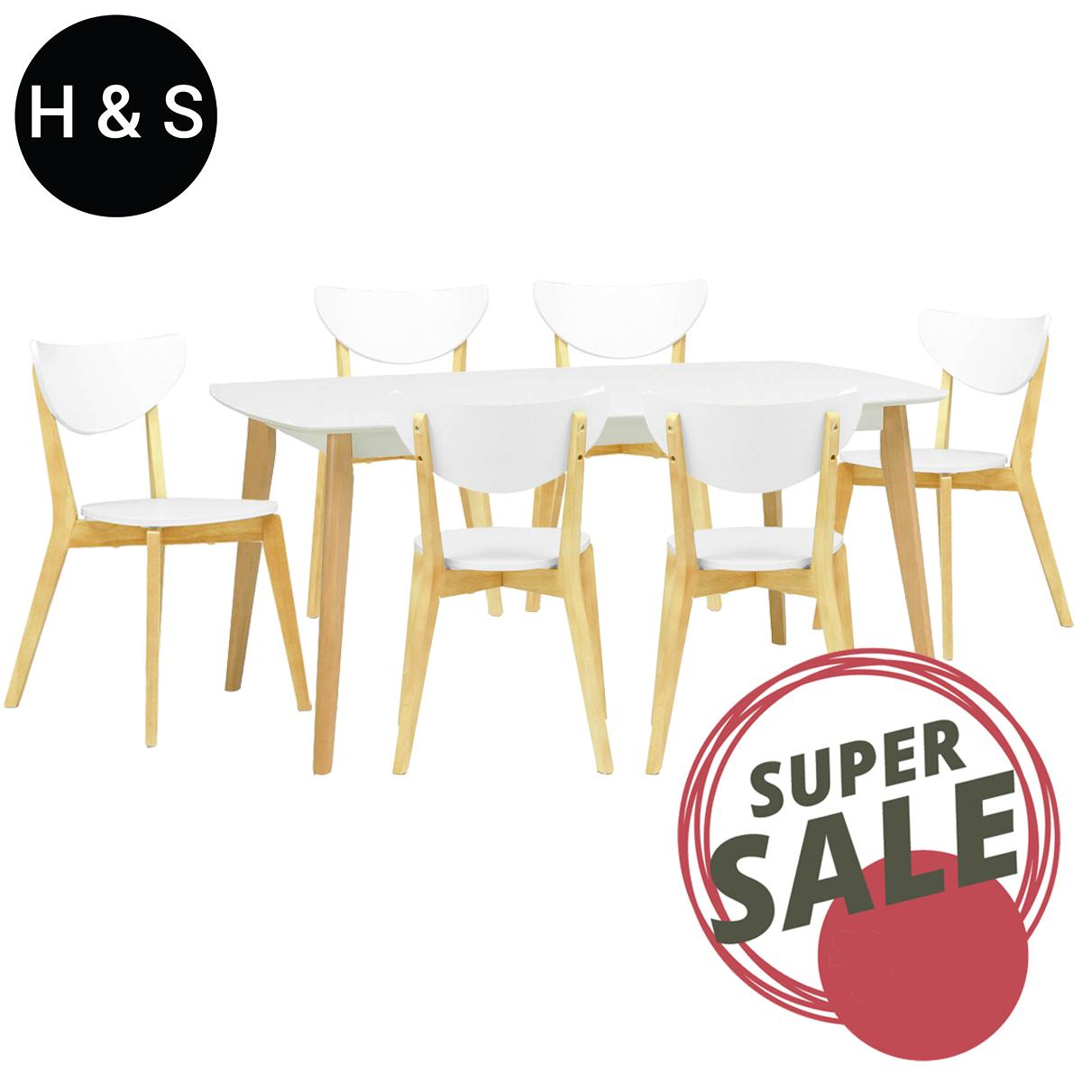 Arthur 1.5m Dining Table + 6 Dining Chair. (1+6) Quality Dining Set
